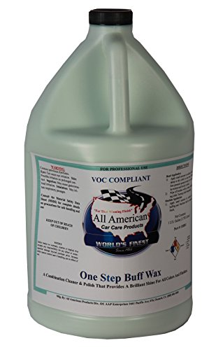 All American Car Care Products One Step Buff Wax (1 Gallon) – Swirl Free Cleaner and Polishing Wax