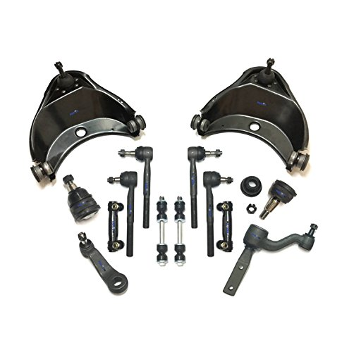 Gmc C2500 Suburban Pitman Arm - PartsW 14 Pc Complete Suspension Kit for Chevrolet GMC C1500 C2500 Suburban Adjusting Sleeves Tie Rod Ends Sway Bars End Links Idler & Pitman Arms Lower Ball Joints Upper Control Arms & Ball Joints