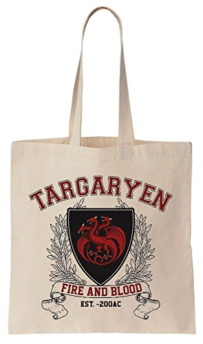 House Of Targaryen Targaryen Fire And Blood Highschool Style Logo Sacchetto di cotone tela di canapa