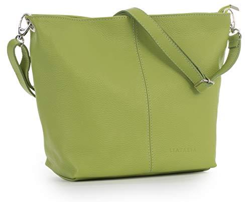 LIATALIA Women's Medium Hobo Shoulder Bag Genuine 100% Italian Leather Stylish & Elegant Design – ADAL [Lime Green]