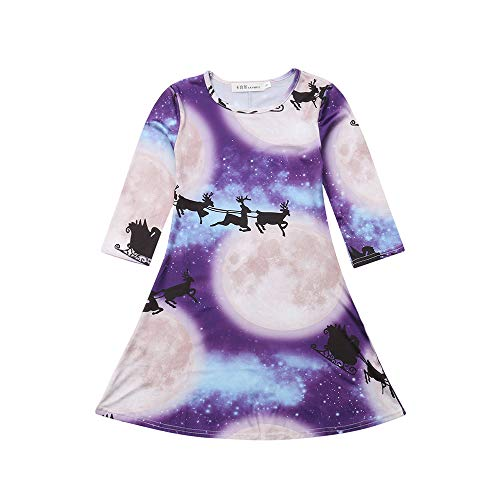 (Children's Summer Short Sleeve Suit Fashion Trend,Toddler Kids Baby Girls Clothes Lace Floral Printing Party Princess)