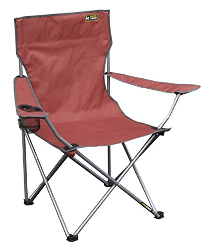 Quik Chair Portable Folding Chair with Arm Rest Cup Holder and Carrying and Storage Bag, Red (Yard Target Chairs)