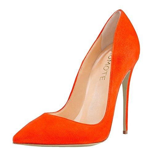 MERUMOTE - Zapatos de tacón fino Mujer Naranja - Orange-Wildleder