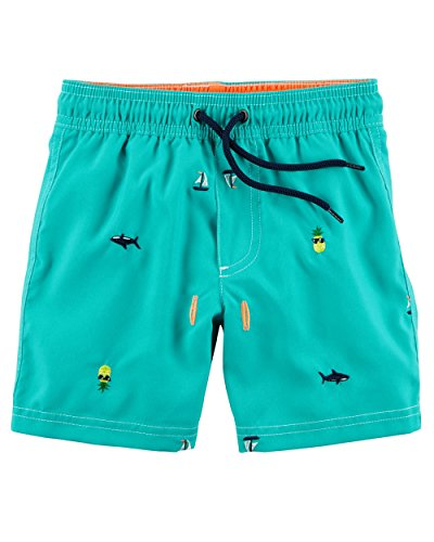 Carter's Boys' Swim Trunks (Toddler 5, Turquoise/Sea Print) by Carter's