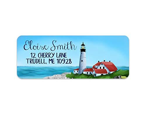 Amazon com: Lighthouse Address Labels - Coastal Address