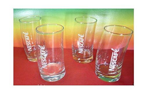 Nescafe Collectible 4 Glass For Frappe Limited edition New Design Rare,New: Amazon.es: Alimentación y bebidas