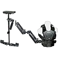 Flycam HD-3000 Stabilizer with Galaxy Dual Arm & Body Vest Steadycam System (GLXY-AV-HD-3) For Video DSLR Cameras | Free Accessories