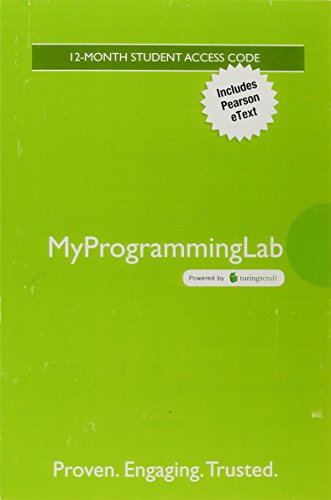 MyLab Programming with Pearson eText -- Access Card -- for Introduction to Java Programming and Data Structures, Comprehensive Version by Pearson