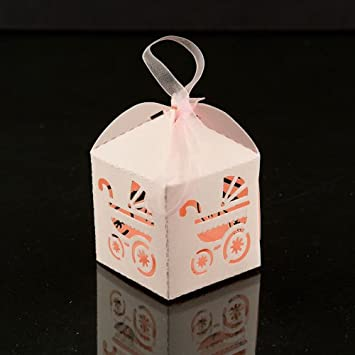 Amazoncom Iparty123 Baby Carriage Favor Candy Box Party Baby