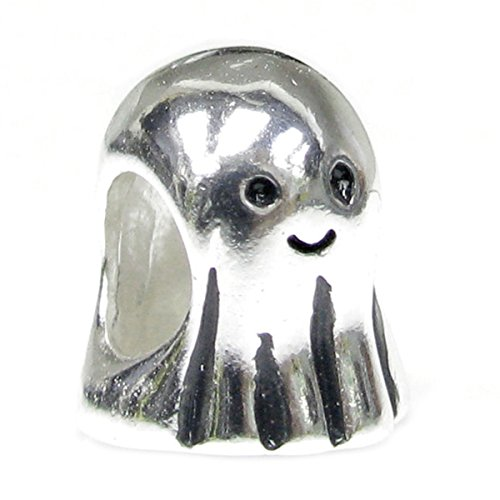 Sterling Silver Lovely Ghost Halloween European Style Bead