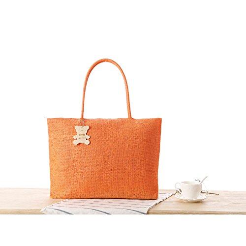 Women Handbag Pt7 Summer Set Bag Solid Straw Abuyall Casual Weave Large Beach Shoulder Raffia Single 1dqPnwA