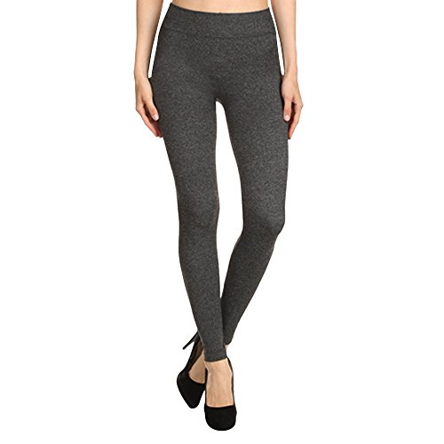Plus French Terry Pants (ShoSho Women's French Terry Leggings - Regular & Plus Sizes, Gray - S/M)