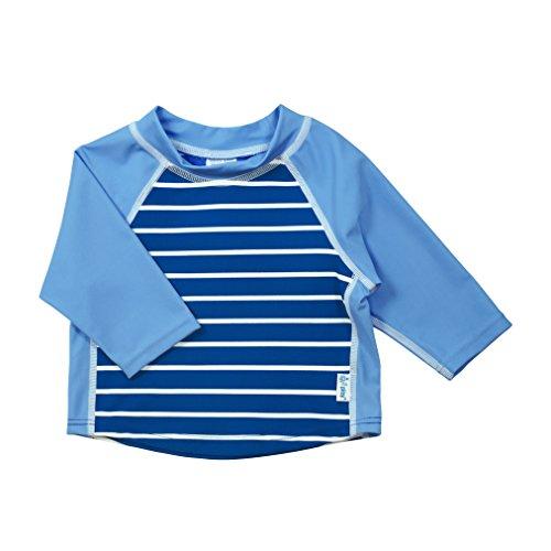 Play I Trunk - i play. Boys' Three-Quarter Sleeve Rashguard Shirt, Royal Stripe, 24 Months