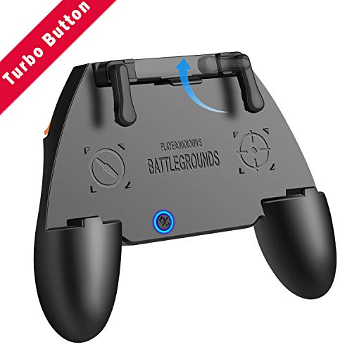 PUBG Mobile Controller COD Mobile Game Controller with Auto Mode Fire Button, Capacitance Mapping L1 R1 Aim and Shoot Triggers Gamepad, Joystick Remote Grip for 4.7-6.5  Android iOS Phone Accessories