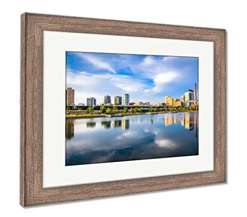 (Ashley Framed Prints Birmingham, Alabama, USA, Wall Art Home Decoration, Color, 26x30 (Frame Size), Rustic Barn Wood Frame, AG32675321)