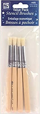 Loew-Cornell 4405 Bristle Stencil Brush Set
