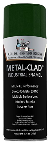 Metal-Clad Gloss Hanover Green Industrial Enamel Aerosol - 10.75 oz, (Case of 12)