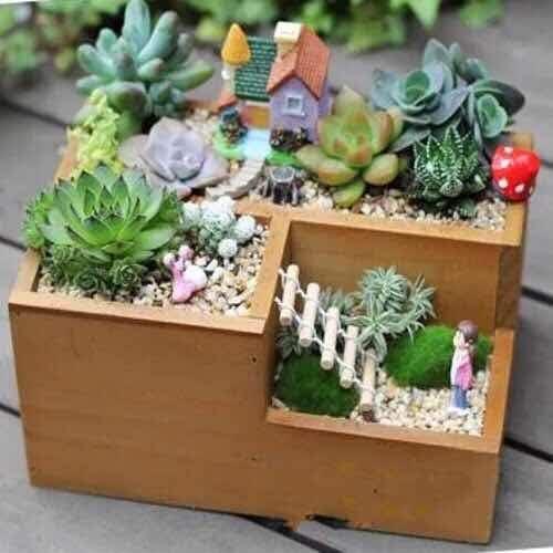 thematys Maceta de Flores Flower Box Decoration - innovadora y Moderna para Plantas de habitación o como un jardín de Hierbas en la Cocina: Amazon.es: Jardín