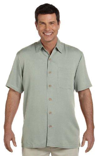 Devon & Jones Men's Isla Coconut Buttons Camp Shirt, S, Pale Green