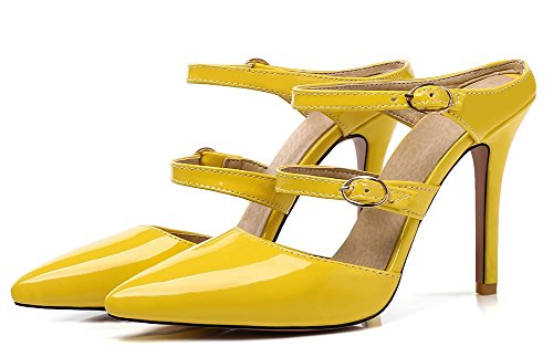on Femme Chaussure Mules Pointue Mode Jaune Stiletto Easemax Slip AfwFTq