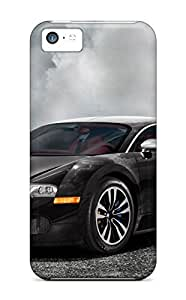 Top Quality Case Cover For Iphone 5c Case With Nice Bugatti Veyron Black Appearance