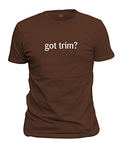 shirtloco Men's Got Trim T-Shirt, Dark Chocolate (Milk Chocolate Sailboat)