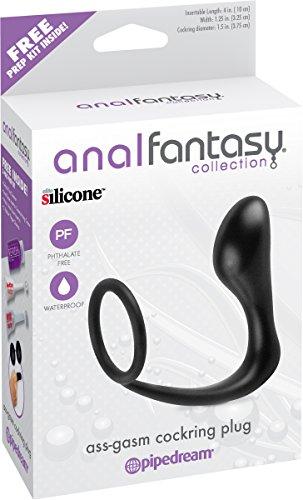 Anal Fantasy Collection Ass Gasm Cockring Plug - Black