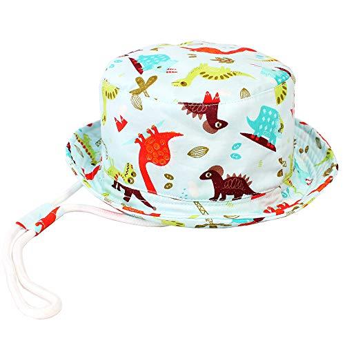 Baby Sun Hat Girl -Toddler Boy Bucket Reversible Sun Protection Animal Hat 20.4