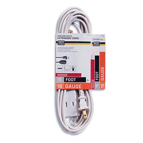 15 feet white extension cord - 8
