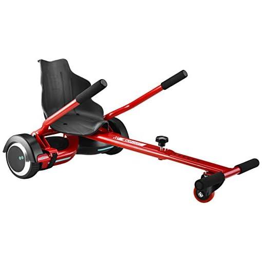Two Dots Glykart, siège pour hoverboard unisex, pour adultes, rouge, 63 cm