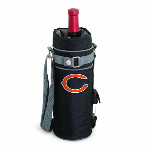 NFL Chicago Bears Insulated Single Bottle Wine Sack with Corkscrew Chicago Bears Video Chair