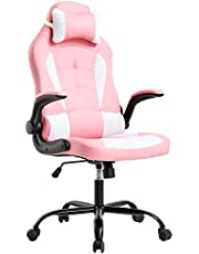 BestOffice Office Desk Gaming Chair High Back Computer Task Swivel Executive Racingchair for for BackSupport with Lumbar Support Adjust Armrest