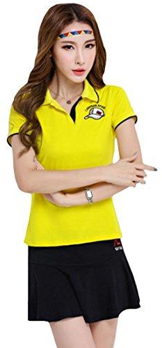 Foncaz レディース ゴルフウェア 上下 セット スポーツウェア ポロシャツ スカート トレーニング フィットネスウェア テニスウェア tシャツ カジュアル 可愛い おしゃれ