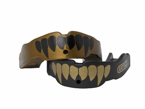 Battle Fang Mouth Guard (2-Pack), Gold/Black, Adult