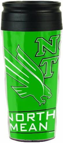 NCAA North Texas Mean Green Travel Mug 16-Ounce