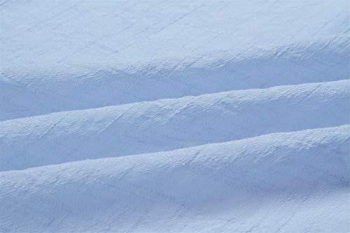 Manches Boutonn Plongeant Coton ts Irrgulier Blouse Fendue Chemise Bleu Devant Fendu Boutons Haut Ourlet Chemisier Boutonne Top Ourlet C Nouer Incurv Longues Ourlet t7r5wq7
