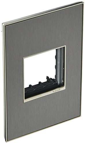 (Legrand adorne 1-Gang Brushed Stainless Square Stainless Steel Wall Plate)