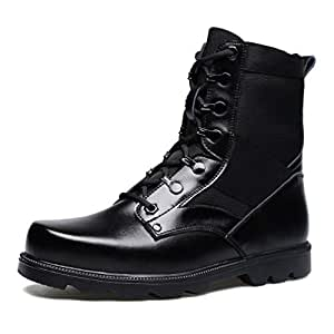 Amazon.com: Gfphfm Men's Boots, Winter New Leather Martin