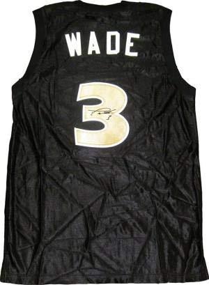 Jersey Autographed Richard - Signed Dwyane Wade Jersey - Richards High School Black - Autographed NBA Jerseys