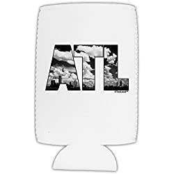 TooLoud ATL Atlanta Text Collapsible Neoprene Tall Can Insulator