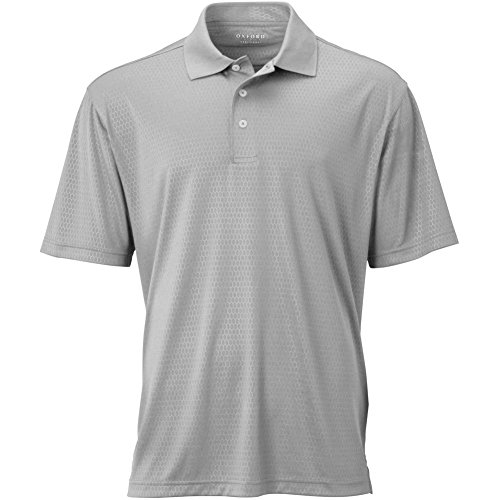 Oxford Men's Short Sleeve Solid Polo, Small, Ice