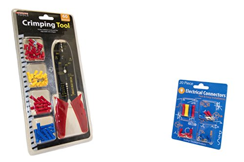 Crimping & Wire Stripping Tool Bundle PLUS For Electrical Jobs | Crimper (Usa Metric Bushings)