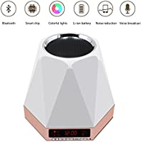SVPRO Wireless Bluetooth 4.0 Speakers with Night Lamp 7 colors Changing Lights Stereo Quality Sound Loudspeaker(A-Golden)