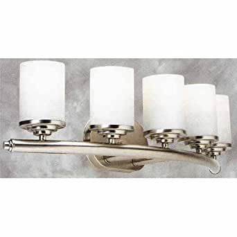 Forte Lighting 5105 05 55 Transitional 5 Light Vanity Fixture Brushed Nickel Finish With Satin