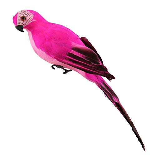 Fan-Ling Colorful Fake Parrots,Artificial Birds Model Outdoor Home Garden Lawn Tree Decor,Garden -