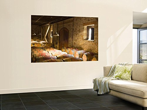 Window Light Streams Into Barrel Room at Hess Collection Winery, Napa Valley, California, USA Wall Mural by Janis Miglavs 48 x 72in Hess Collection Napa Valley