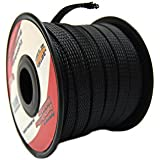 Best Price Black 38 100ft Braided Expandable Flex Sleeve Wiring Harness Loom Wire Cover