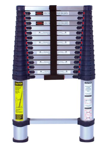 Xtend & Climb 785P Aluminum Telescoping Ladder Type I Professional Series, 15.5-Foot by Xtend & Climb