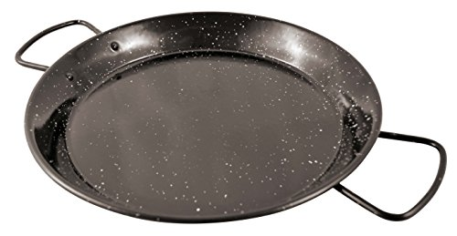 Paderno World Cuisine A4982186 Enamel Paella Pan, 19-5/8-Inch, Black by Paderno World Cuisine