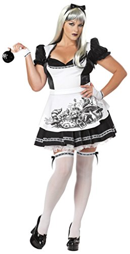 California Costumes Womens Story Book Sexy Dark Alice In Wonderland Gothic Dress, 2XL (18-20)